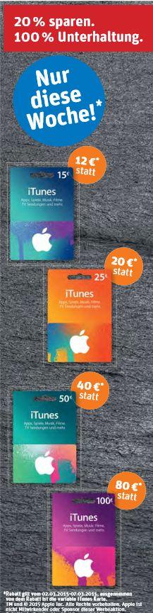 REWE  iTunes Rabatt 20 Maerz 2015