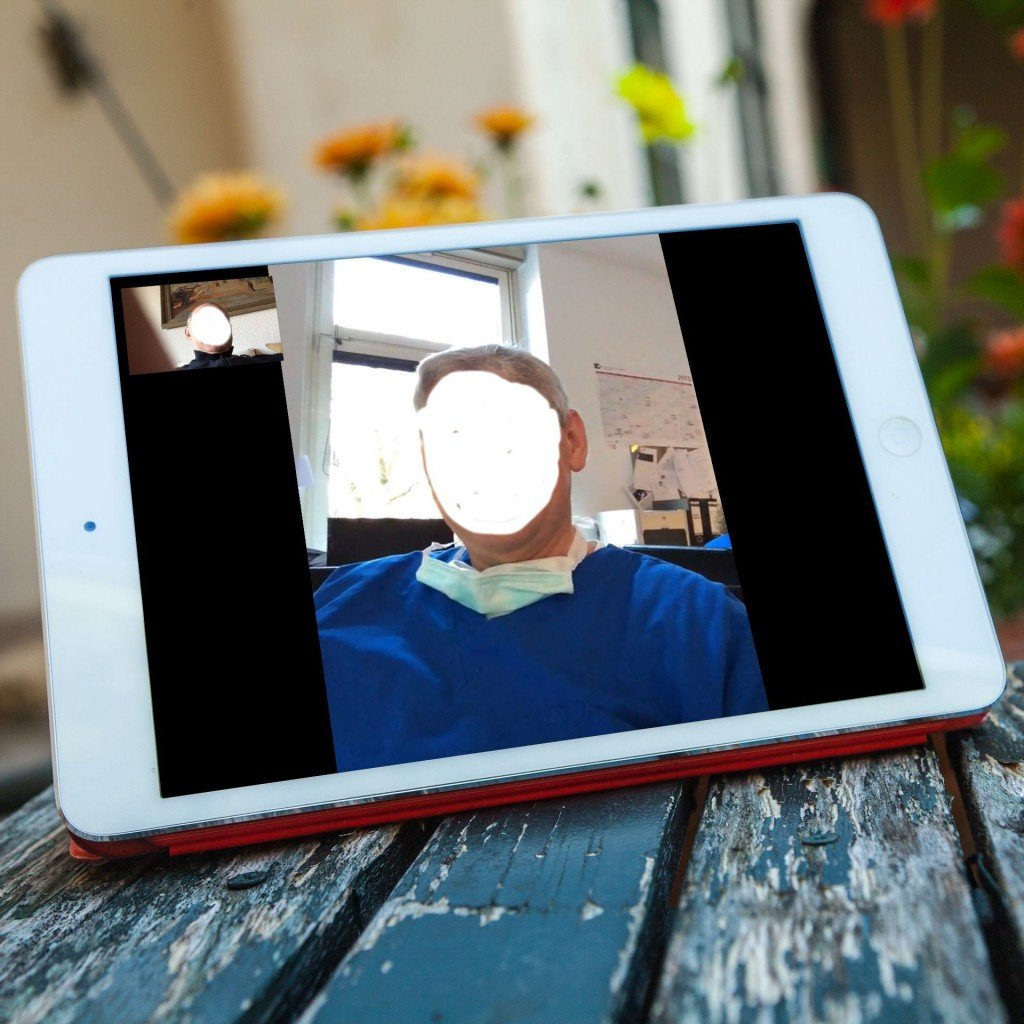 iPad Facetime Bildtelefonie Face to Face Gesicht live 6