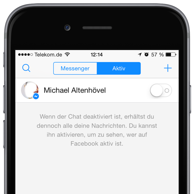 iPhone Facebook Messenger Online Status Datenschutz verbergen 1