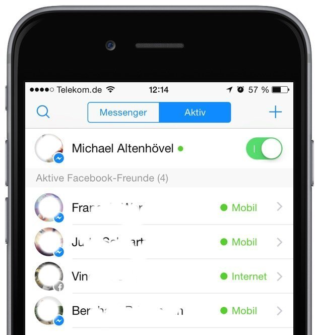 iPhone Facebook Messenger Online Status Datenschutz verbergen 2