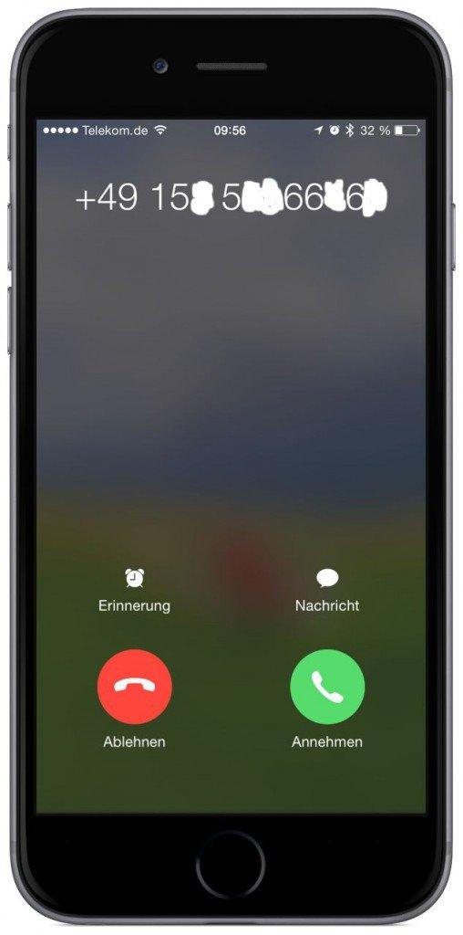 iPhone Kontakt Anrufer neue Telefonnummer ändern speichern 2