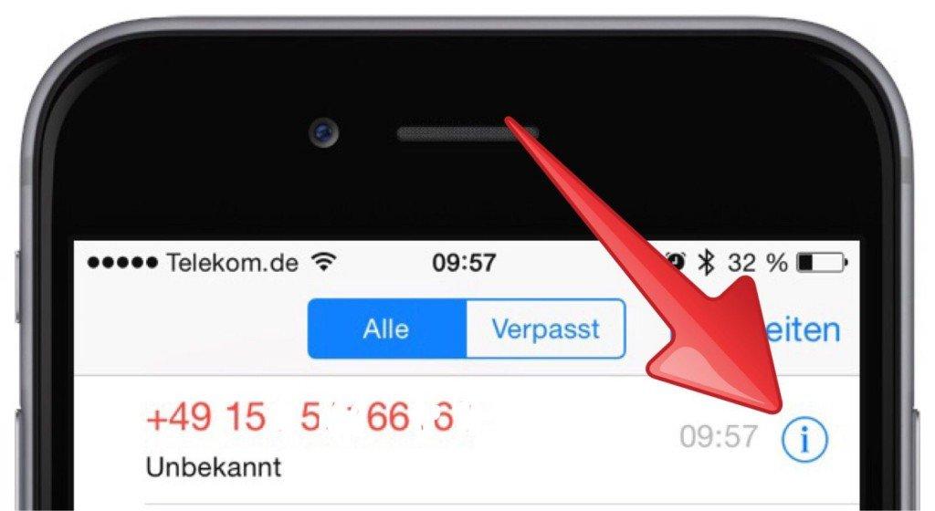 iPhone Kontakt Anrufer neue Telefonnummer ändern speichern 4