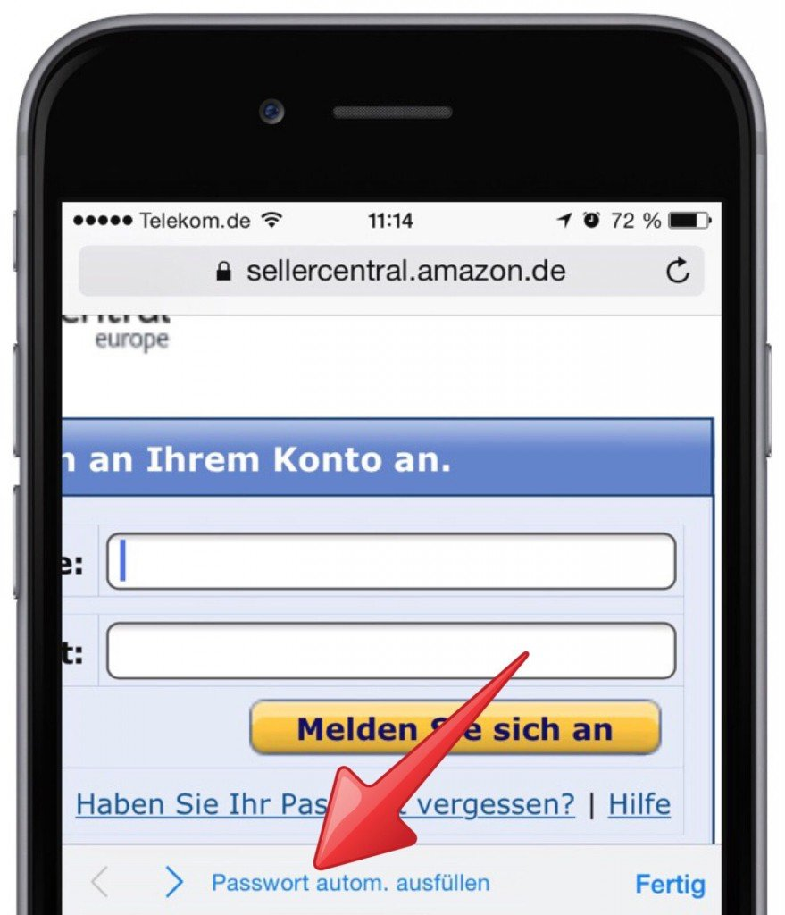 iPhone Safari Schlüsselbund Passwort Kennwort speichern 1