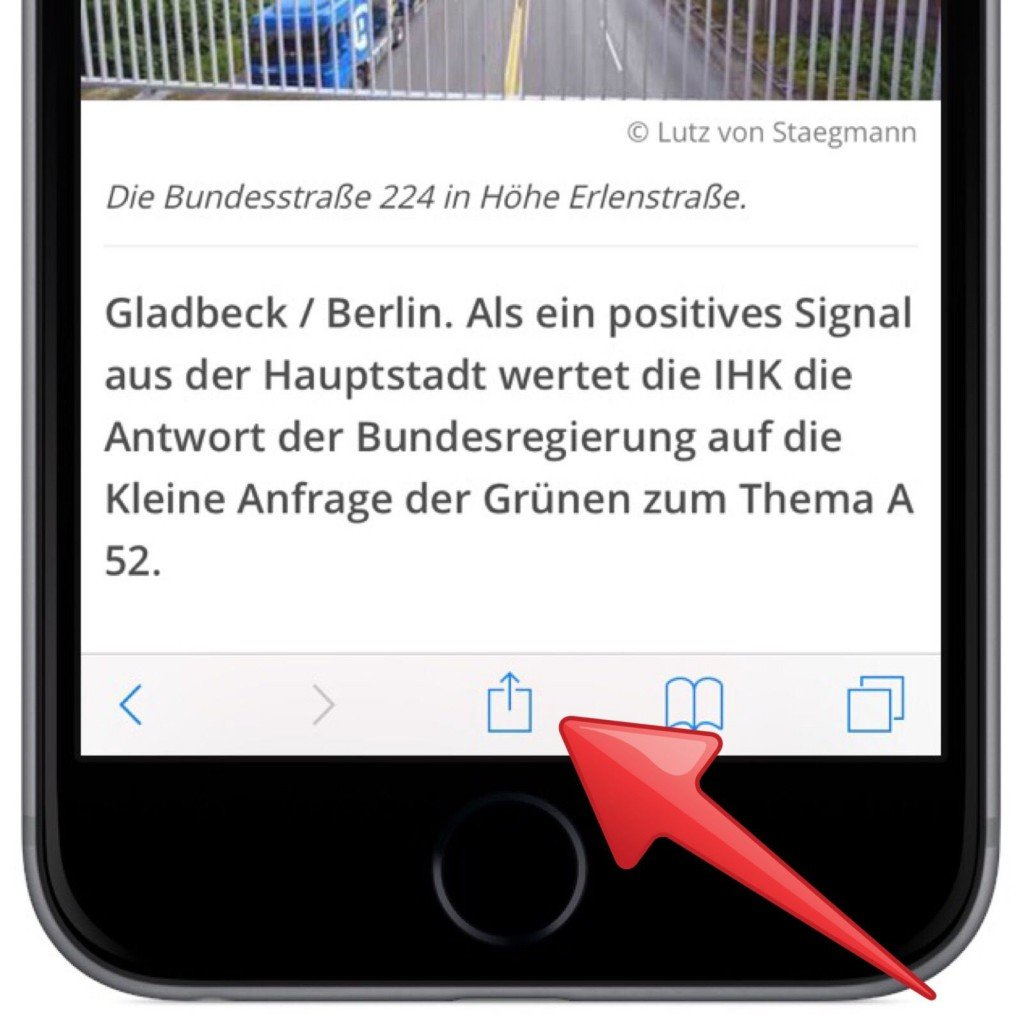 iPhone iPad AirDrop Internet Link übertragen 1