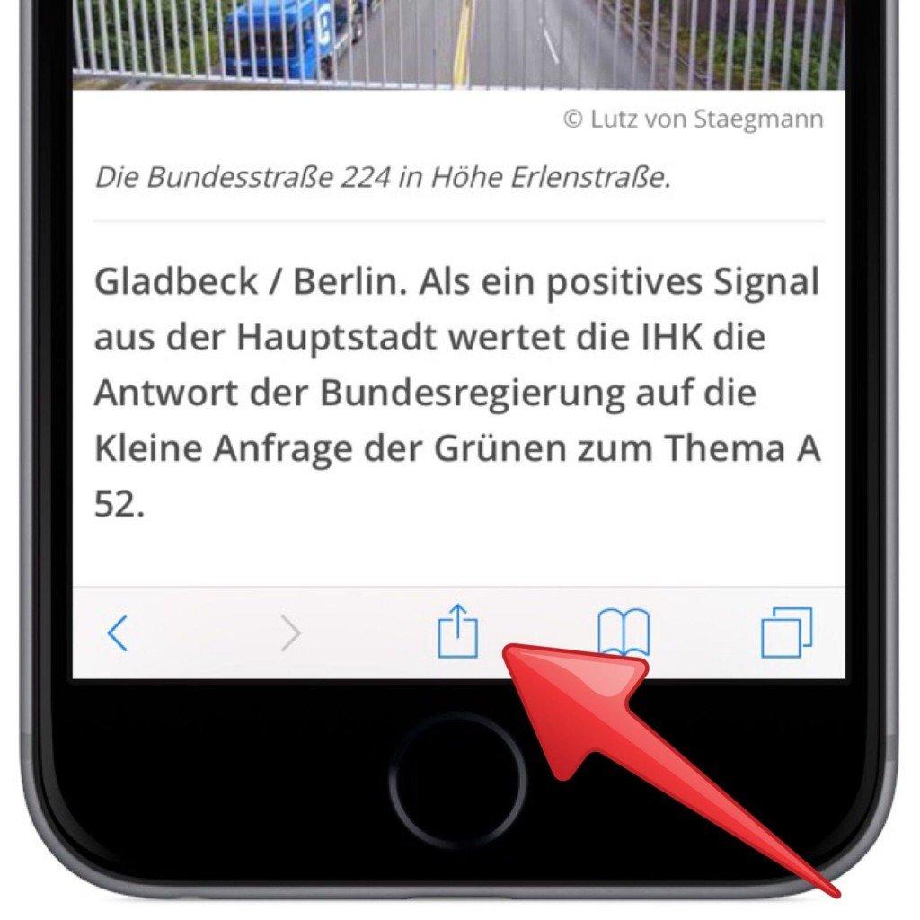 iPhone iPad AirDrop Internet Link übertragen 1