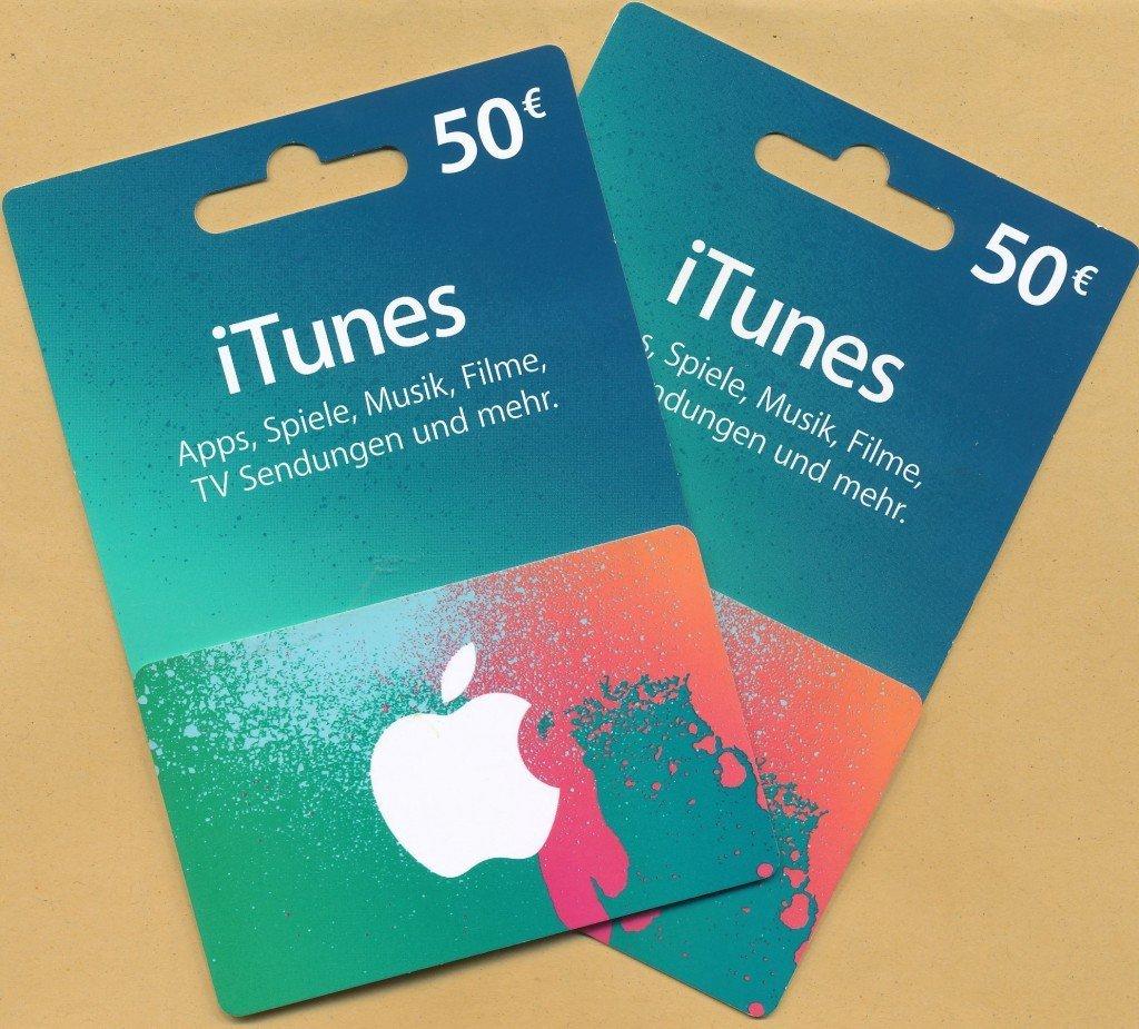 iTunes Karte Geschenkkarte einlösen einscannen 1