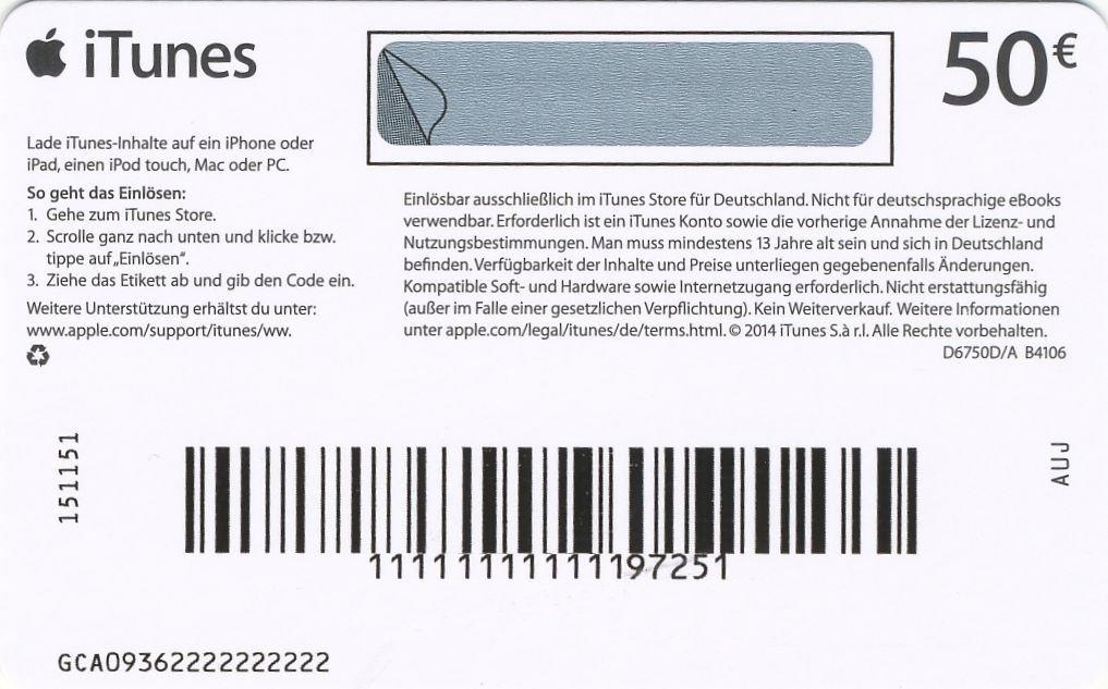 iTunes Karte Geschenkkarte einlösen einscannen 2