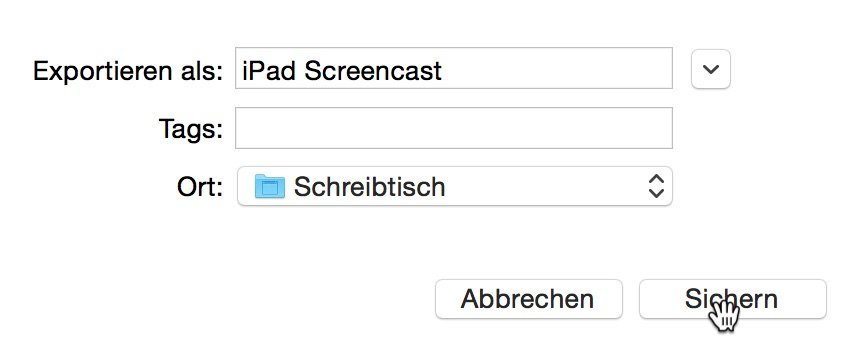 Mac iPhone Video aufnehmen filmen speichern Screencast Bildschirmfilm Display YouTube Vimeo Yosemite 6