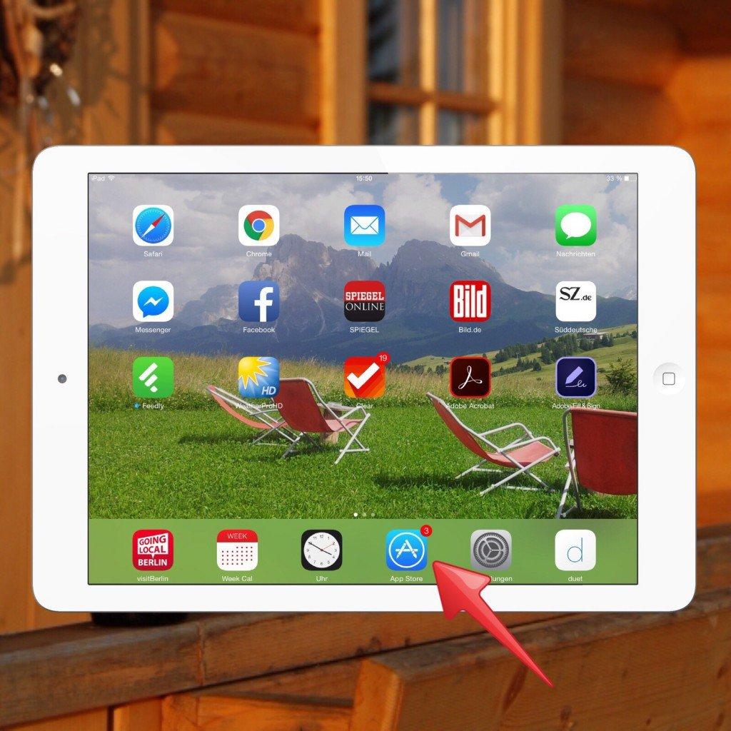 iPad App Update Aktualisierung Badge Icon automatisch 1