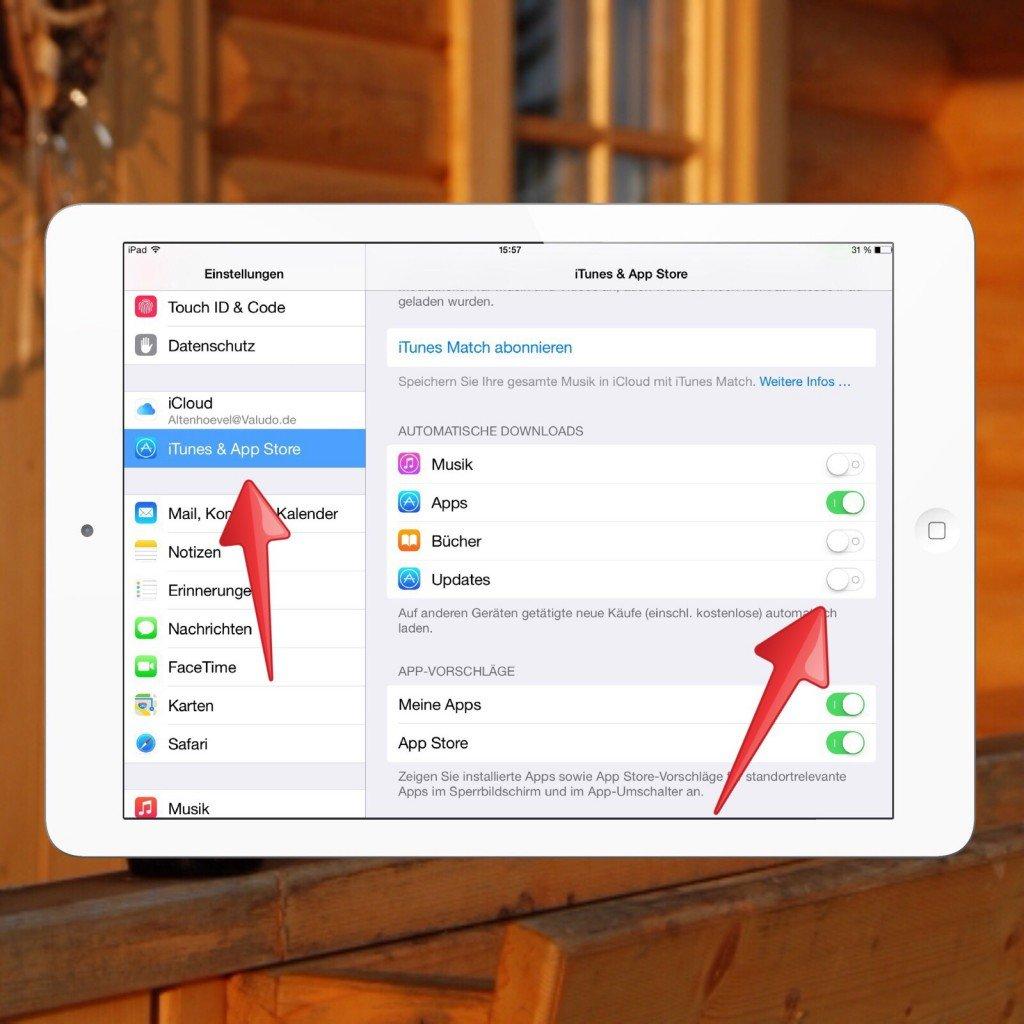 iPad App Update Aktualisierung Badge Icon automatisch 2