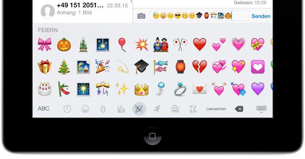iPad Update iOS 8.3 Emojis 1