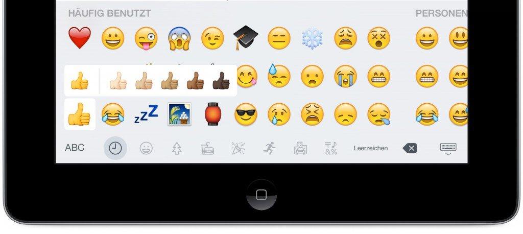 iPad Update iOS 8.3 Emojis 2