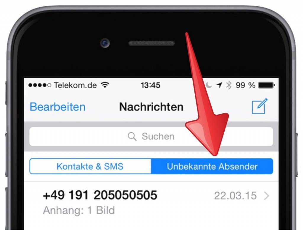 iPhone SMS iMessage Spam Filter Ordner 3