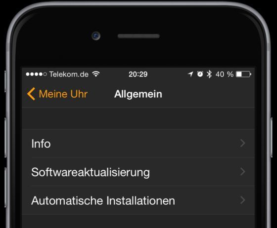 Apple Watch WatchOS Update 1.0.1 Bild1