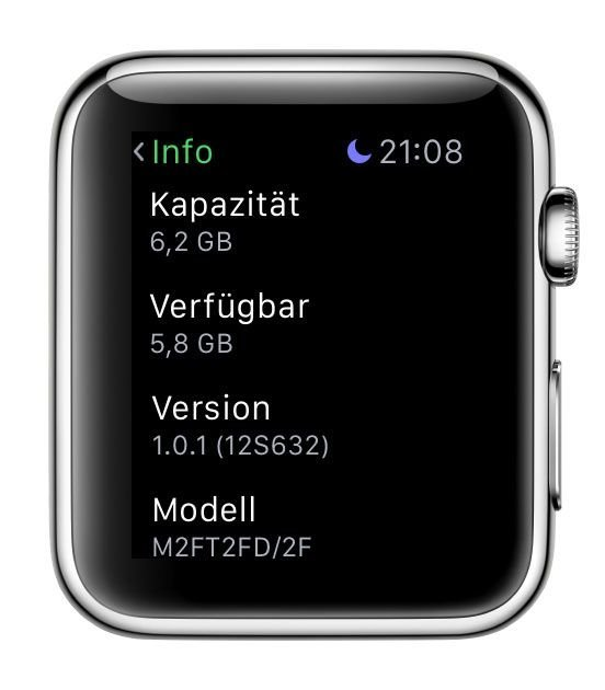 Apple Watch WatchOS Update 1.0.1 Bild4
