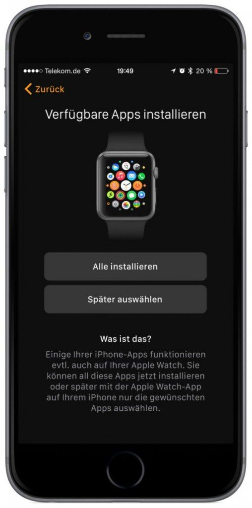 Apple Watch iPhone Koppeln verbinden Krone Watch OS iOS Bluetooth 7