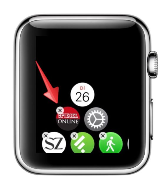 Apple Watch iPhone koppeln Symbole Icons verschieben 2