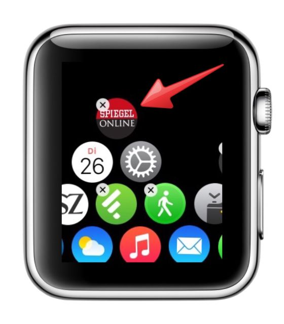 Apple Watch iPhone koppeln Symbole Icons verschieben 3