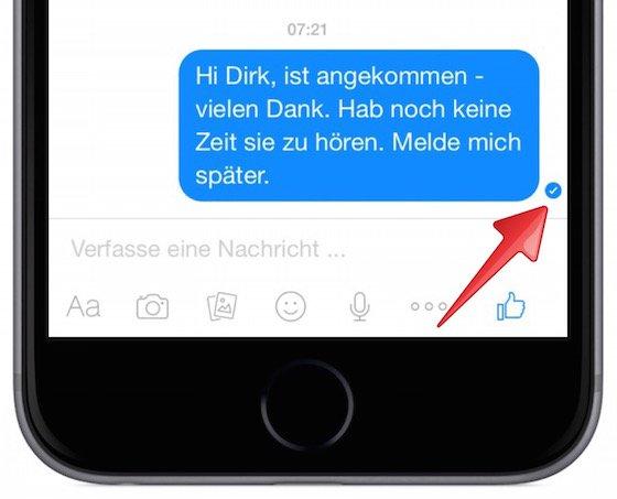 was bedeutet ein haken bei whatsapp