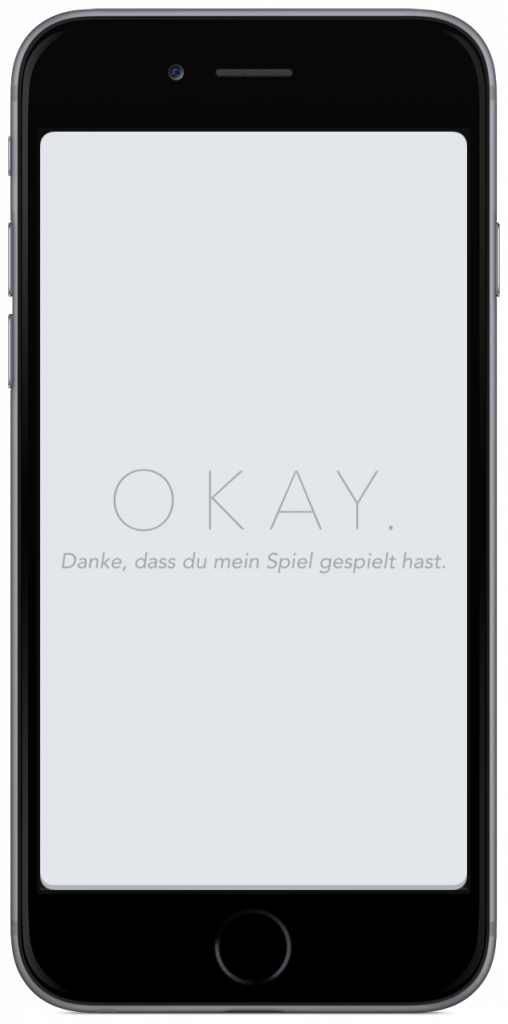 OKAY iPhone iPad Spiel App Bezahlmodell kostenlos In-App-Kauf innovativ Entwickler Philipp Stollenmayer
