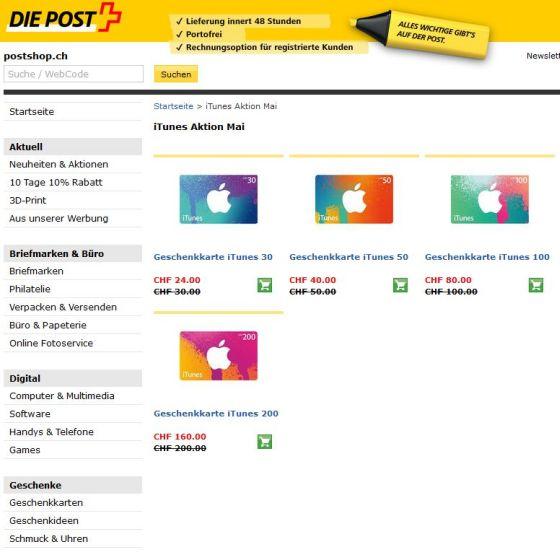 Schweizer Post iTunes