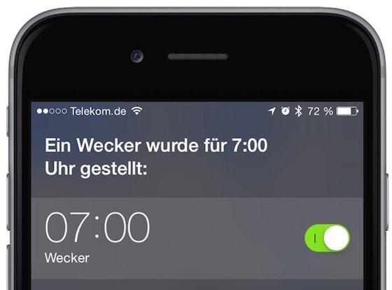 Siri iPhone Wecker stellen Kommando Bfehl Weckzeit 3