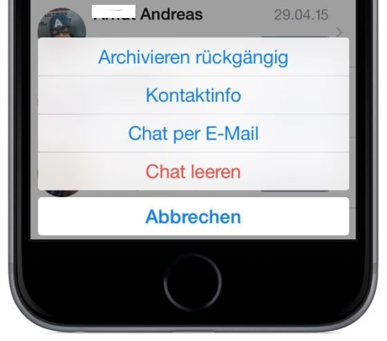 WhatsApp iPhone archiviert Archiv anzeigen rückgängig widerrufen 2