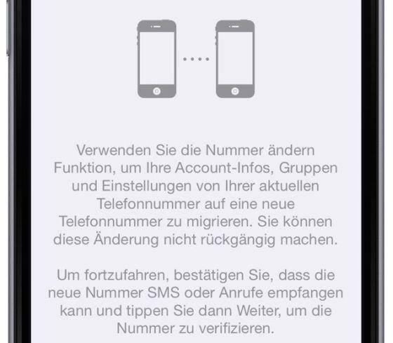WhatsApp neue Handynummer Mobilfunknummer Telefonnummer Nummer ändern Messenger Handy  Provider 2
