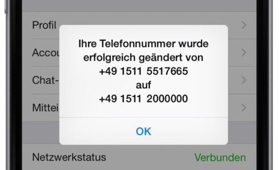 WhatsApp neue Handynummer Mobilfunknummer Telefonnummer Nummer ändern Messenger Handy  Provider 7