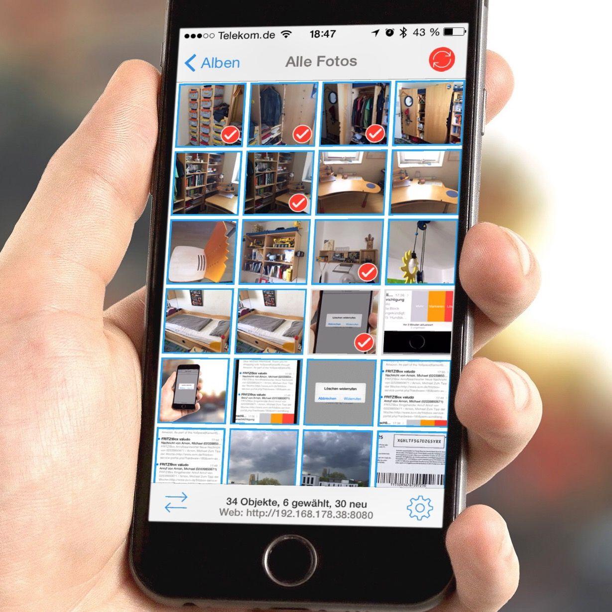 iPhone-Fotos und -Videos schnurlos übertragen an Mac und PC