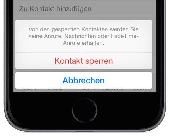 iPhone Stalker lästige Anrufer sperren blockieren 4
