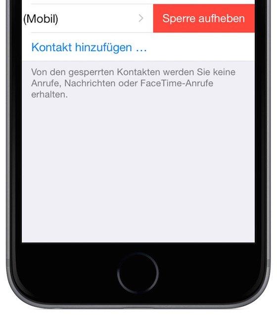 iPhone Stalker lästige Anrufer sperren blockieren 6