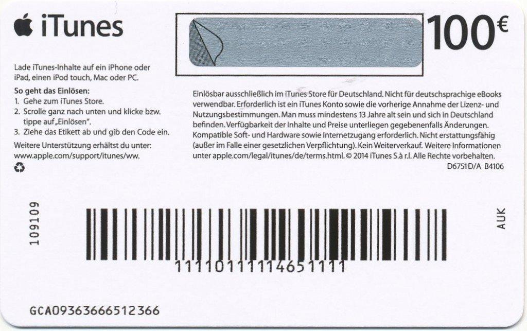 iTunes Geschenkkarte PayPal Kreditkarte App Musik Film kaufen Einkauf Rabatt Code eingeben Konto 2