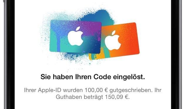 iTunes Geschenkkarte PayPal Kreditkarte App Musik Film kaufen Einkauf Rabatt Code eingeben Konto 7