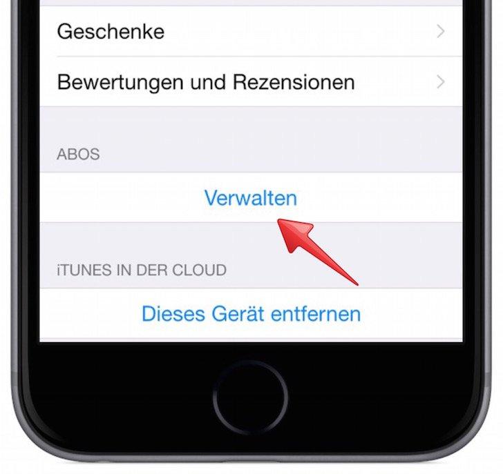 Abo Abonnement iTunes verlängern verwalten kündigen Jamie Oliver App iTunes Karten PayPal Kreditkarte App Store 4