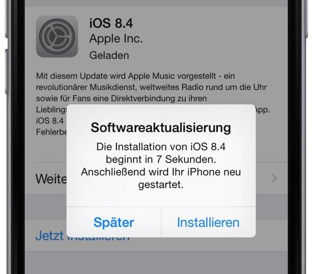 Apple iOS 8.4 Update veröffentlicht installieren Radio Musik Fehlerbehebungen Bugfixes 2