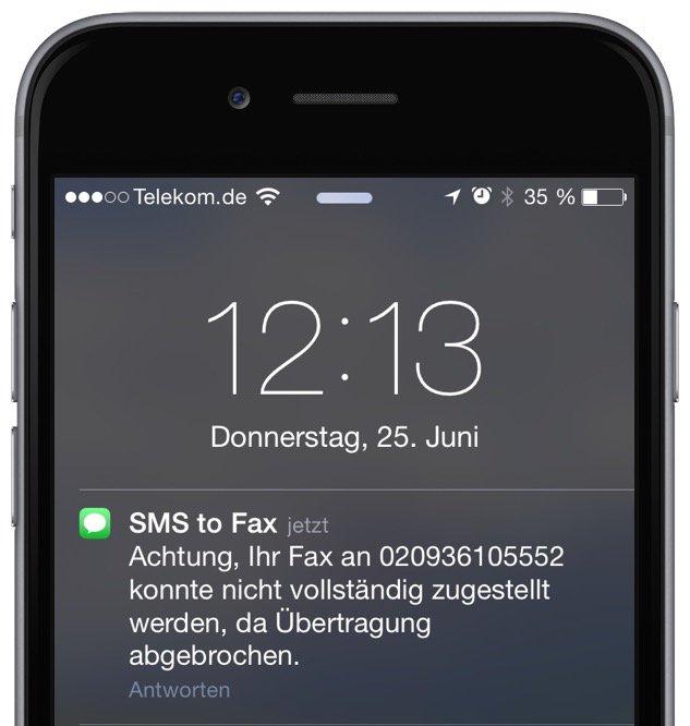 Fax vom Handy versenden T-Mobile 3