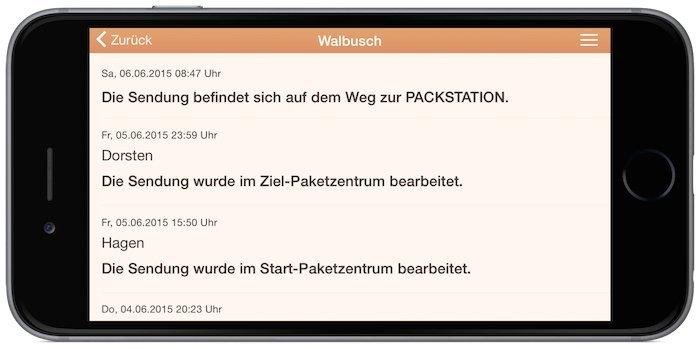 Parcel App Post Paket Tracking Status 1
