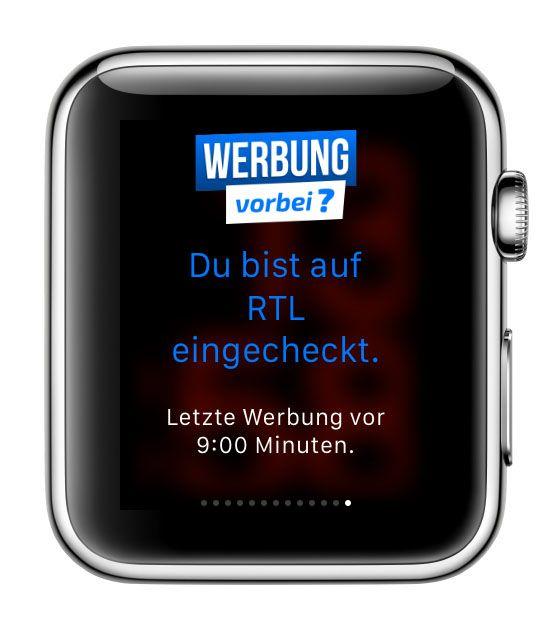 TV Werbung Werbeblock Unterbrechung überspringen vorbei App iPhone Apple Watch Android Smartphone 8