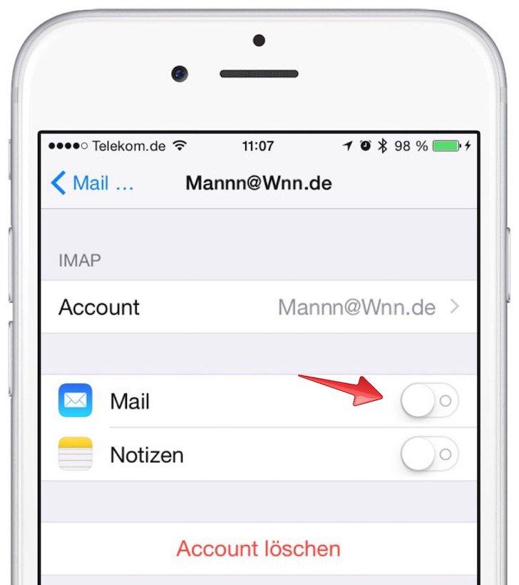 iPhone-Mails werden nicht gelöscht - was tun 3
