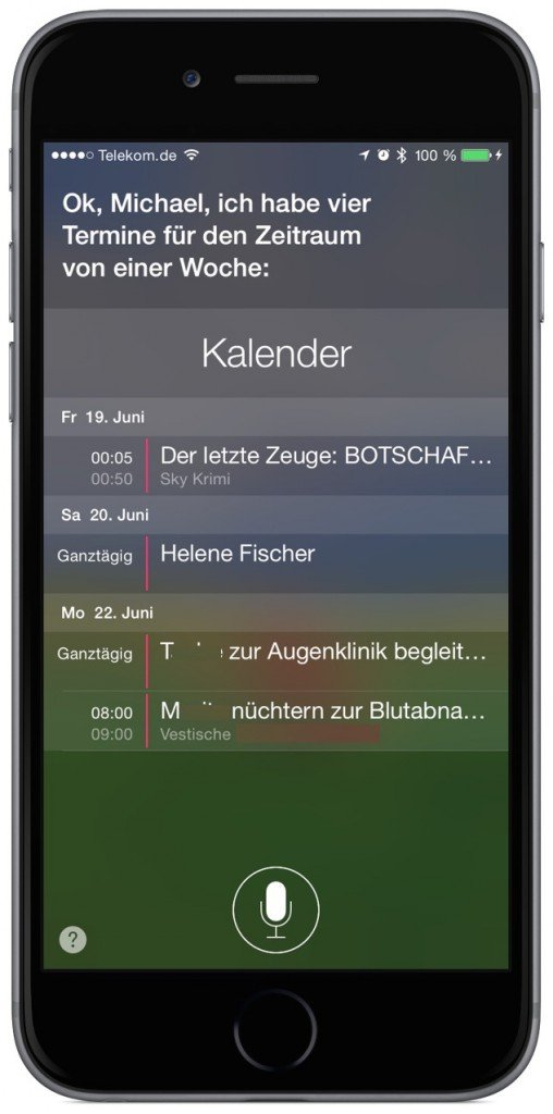 iPhone Siri Kalender Termin 2