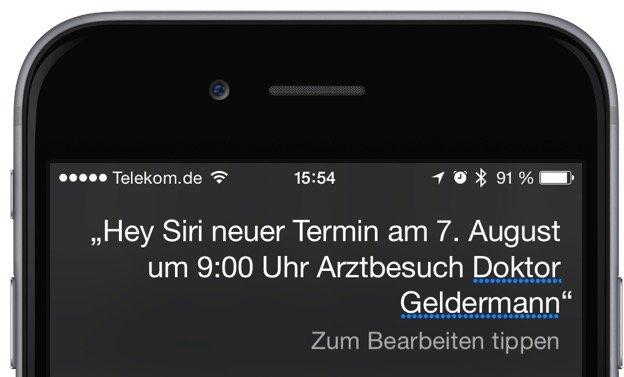 iPhone Siri Kalender Termin 3