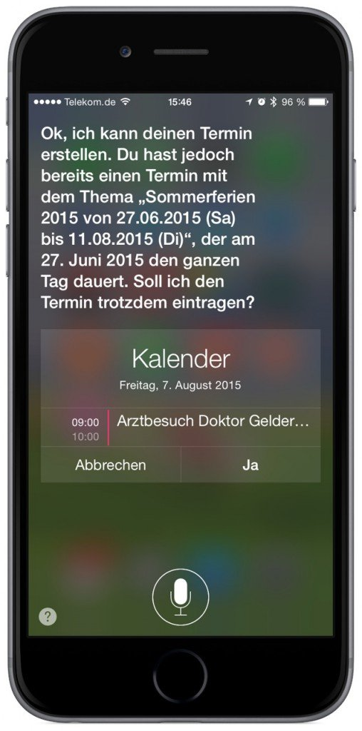 iPhone Siri Kalender Termin 4