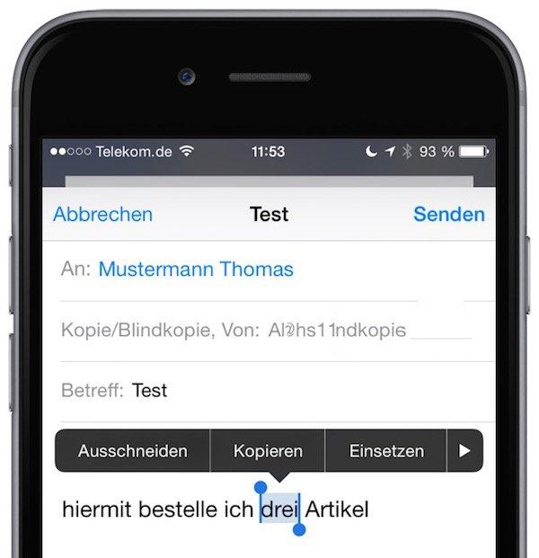 iPhone fett schreiben formatieren markieren 1