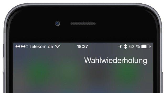 Apple Befehl Kommando Siri Sprachsteuerung iPhone Anruf Wahlwiederholung besetzt 1
