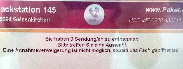 Packstation DHL Deutsche Post Fach nochmal öffnen Paket Päckchen Lieferung Sendung 1