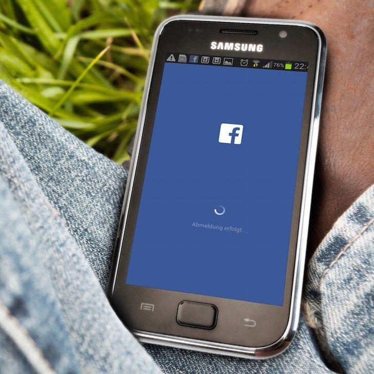 Samsung Android Facebook App langsam Freigabe posten Alternative 6 ABMELDUNG ERFOLGT