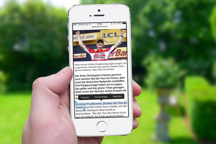 iPhone Text kopieren Zwischenablage Zwischenspeicher Einfügen Einsetzen Mail Nachrichten Safari WhatsApp Link 6