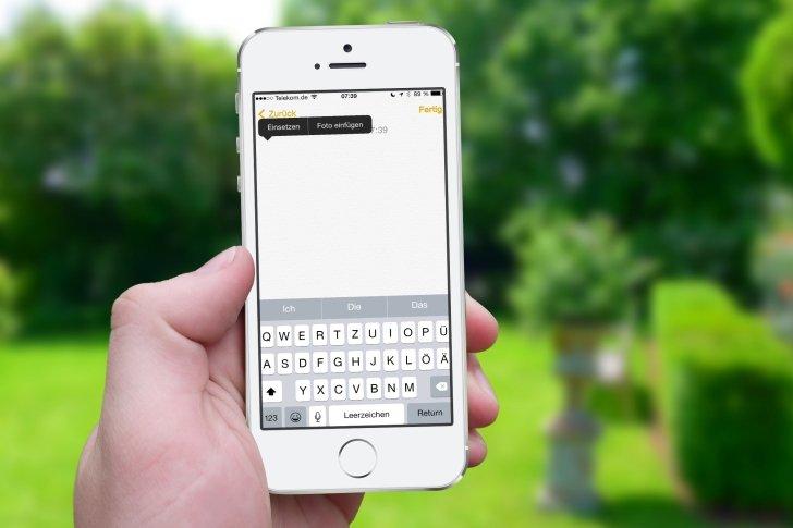 iPhone Text kopieren Zwischenablage Zwischenspeicher Einfügen Einsetzen Mail Nachrichten Safari WhatsApp Link 8