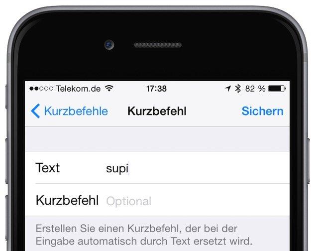 iPhone Wörterbuch ergänzen eigene Begriffe Autokorrektur verbessern 3